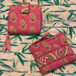 Vera Bradley Bermuda Pink wallet and coin purse